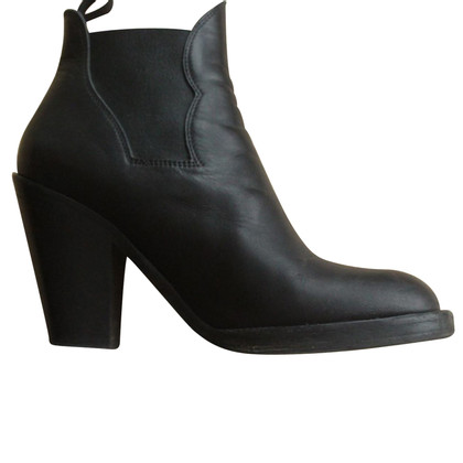 Acne Star black ankle boots