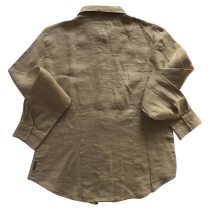 Armani Jeans Chemise en lin beige