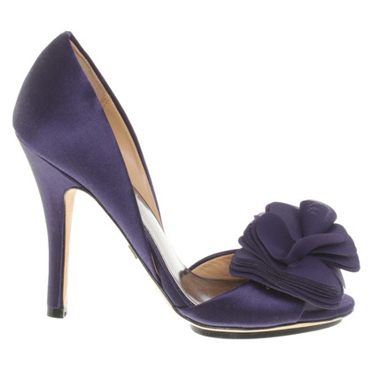 Badgley Mischka Peeptoes in viola