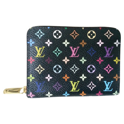 Louis Vuitton Zippy Coinpurse multicolor in Schwarz