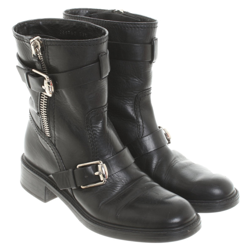 Gucci Ankle boots Leather in Black