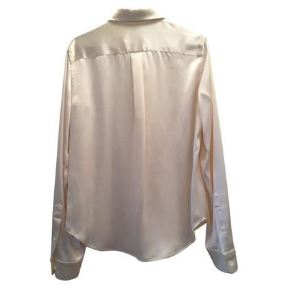Maison Martin Margiela Silk blouse in cream