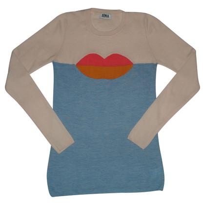 Sonia Rykiel Shirt met lip motief