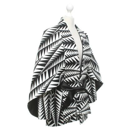 Balmain Veste en noir / blanc
