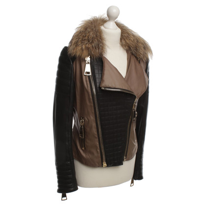 Hôtel Particulier Bikerjacke with fur collar