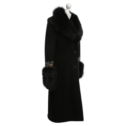 John Galliano Coat with fur trim