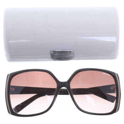 Jimmy Choo Big sunglasses with metallic effect