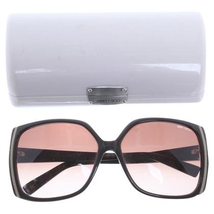 Jimmy Choo Grandi occhiali da sole con effetto metallico