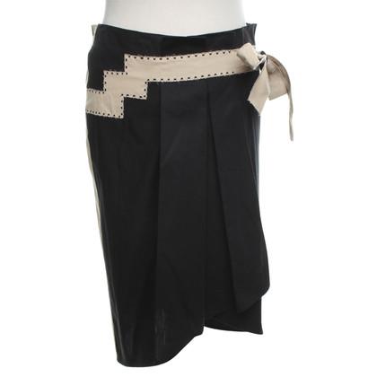 Philosophy di Alberta Ferretti Wrap skirt in black / beige