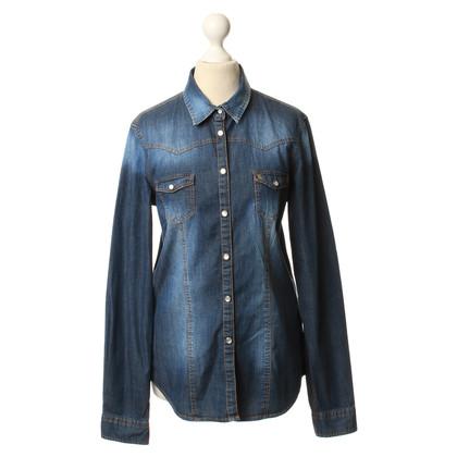 Bogner Camicia in denim blu