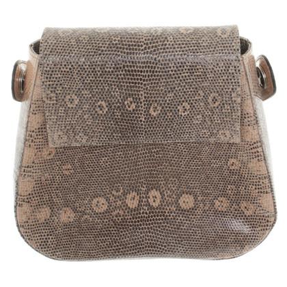 Walter Steiger Handtasche mit Reptil-Prägung