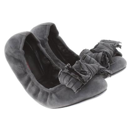 Prada Ballerina's in grijs