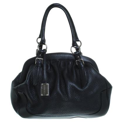 D&G Lederen handtas in zwart