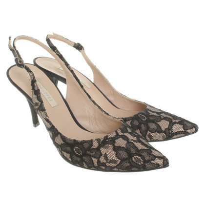 Pura Lopez Slingbacks with lace