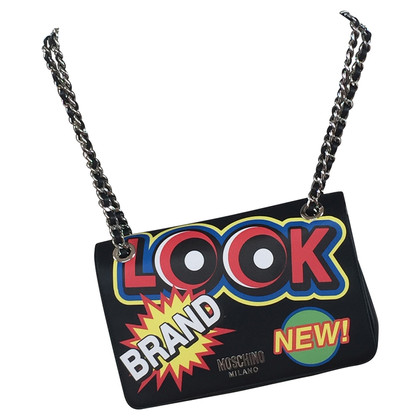 Moschino Shoulder bag with stickers