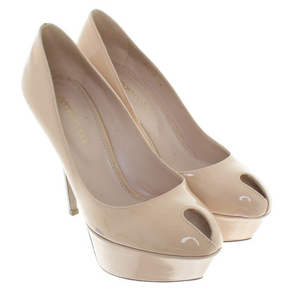 Sergio Rossi Peeptoes made of patent leather
