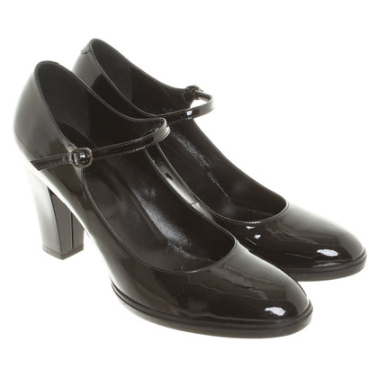 Hogan pumps in black patent leather