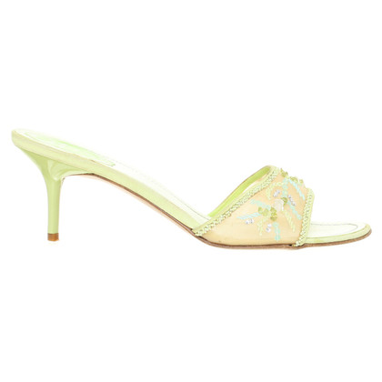 René Caovilla Green sandals