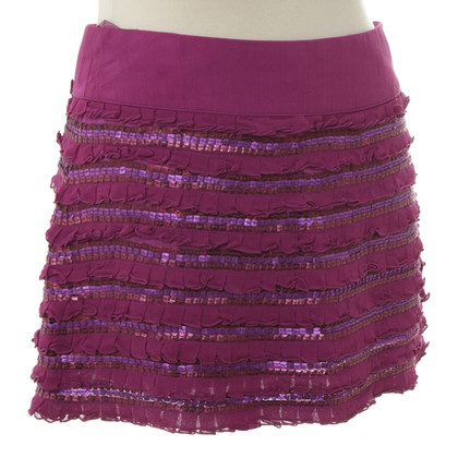 Pinko Sequin skirt in Fuchsia