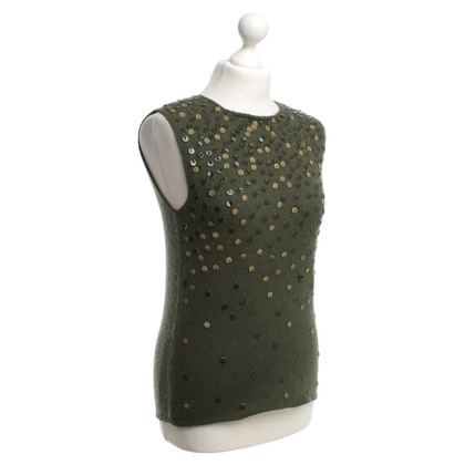 Valentino Wool top in green
