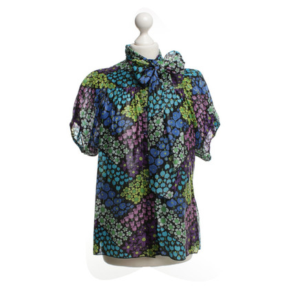 Anna Sui top with floral pattern
