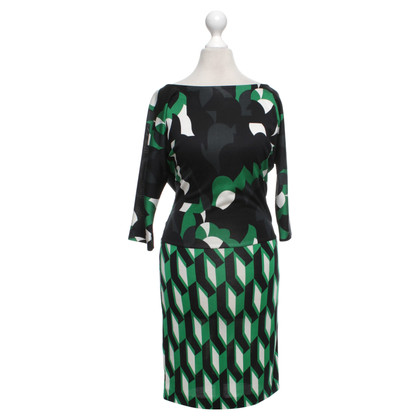 "Diane von Furstenberg Dress ""Helga"" met patroon"