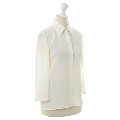 Prada Zijden blouse in crème
