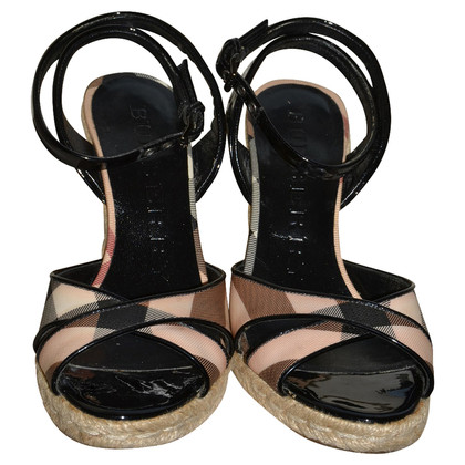 Burberry Sandaletten mit Keilabsatz