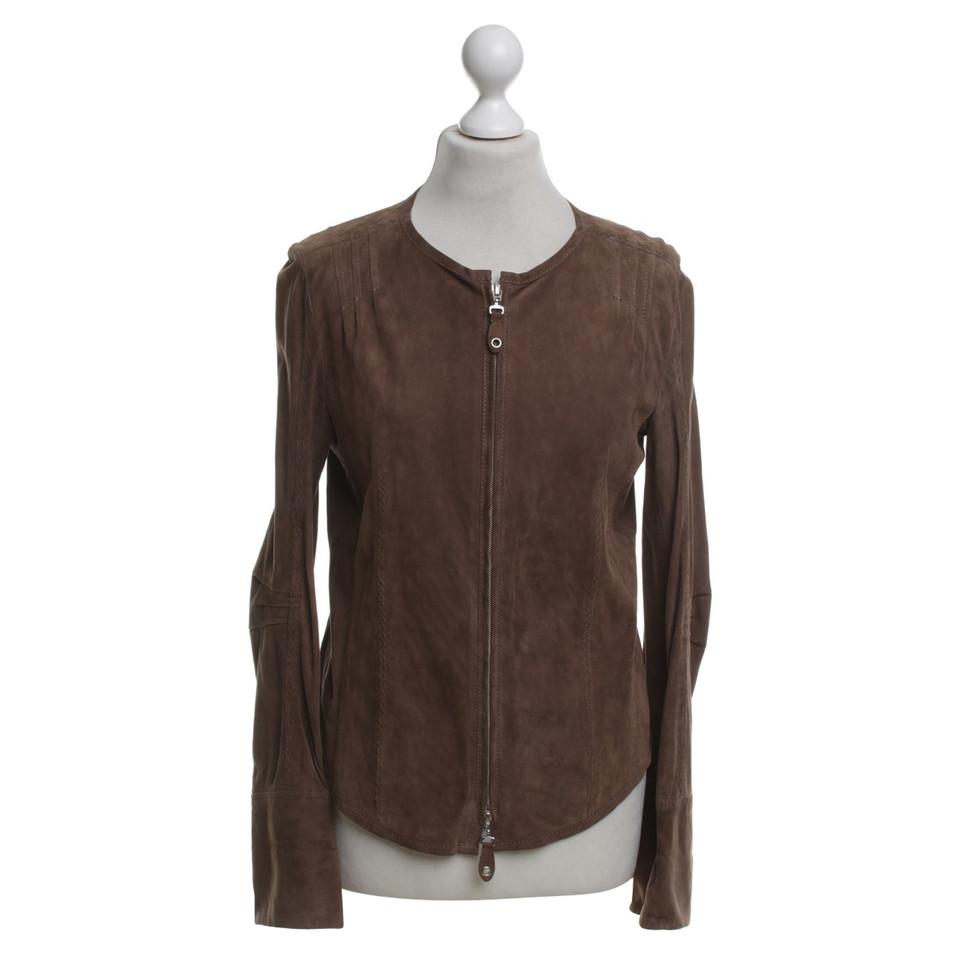 luisa cerano jasje van het leer in bruin koop tweedehands luisa cerano jasje van het leer in. Black Bedroom Furniture Sets. Home Design Ideas
