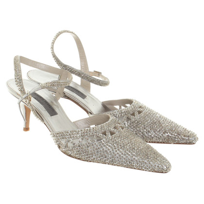 Alberta Ferretti Pumps in Silber-Optik