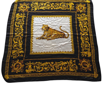 Carven Silk scarf with leopard print