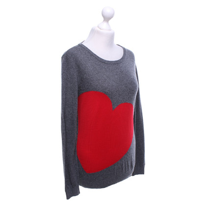 Moschino Sweater in grey / red