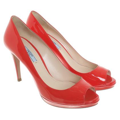 Prada Peeptoes in red