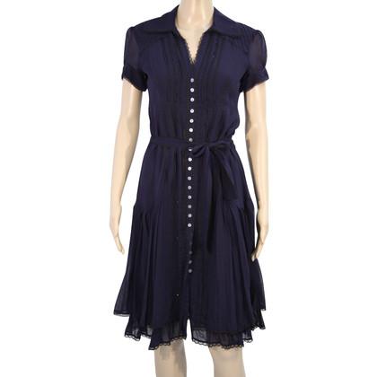 Karen Millen Silk dress in dark blue
