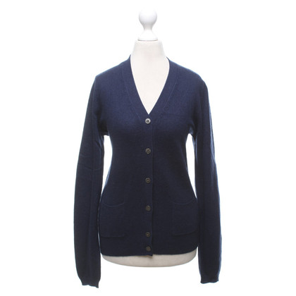 Allude Cashmere cardigan in dark blue