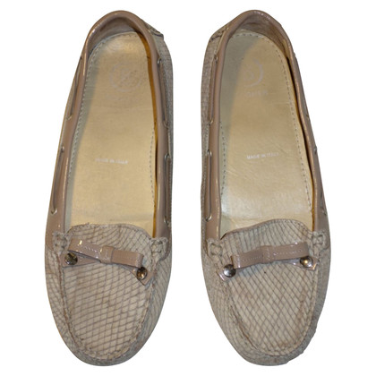 Bogner Loafer / slipper with reptile embossing