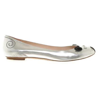 Marc by Marc Jacobs Ballerinas in silver