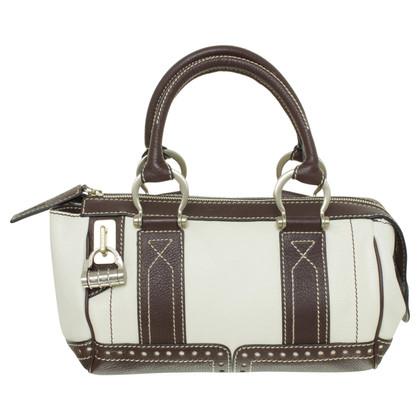 Lancel Handbag in Brown and cream
