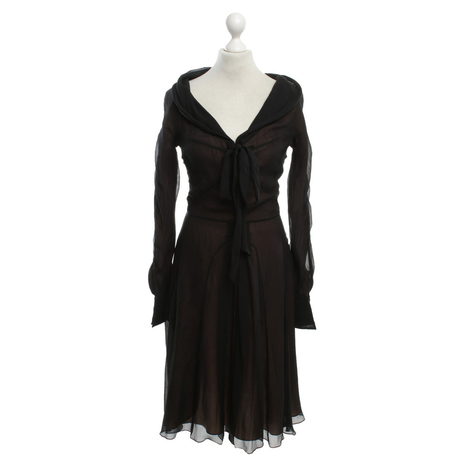 Céline Silk dress in black