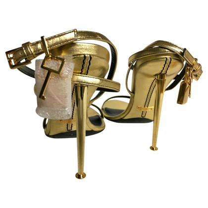 Tom Ford Gouden sandalen