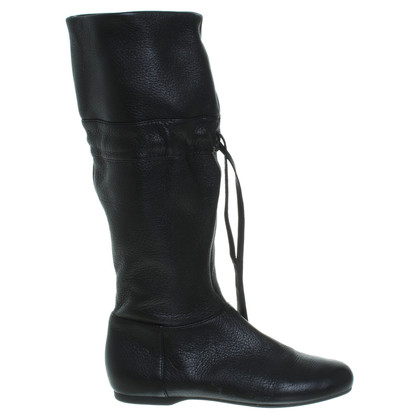 Miu Miu Flat boots in black