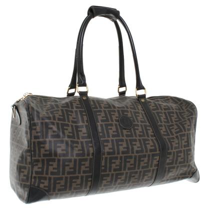 Fendi borsa da viaggio realizzata in tela