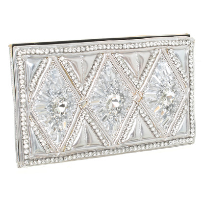 H&M (designers collection for H&M) clutch met halfedelstenen
