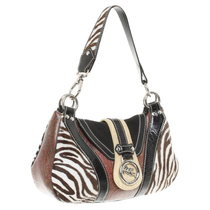 Etro Patterned handbag with fur