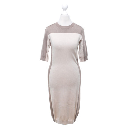 Elisabetta Franchi Knitted dress in taupe / beige