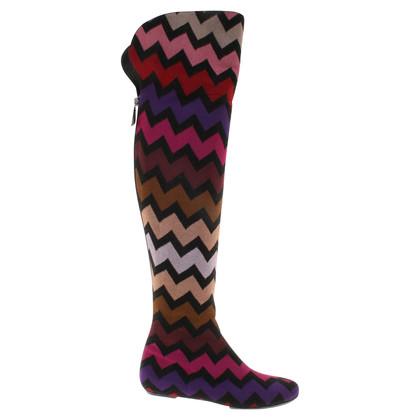 Missoni Boots met een zig-zag patroon