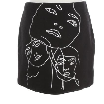 Stella McCartney skirt in black and white