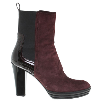 Hogan Ankle boots in Bordeaux