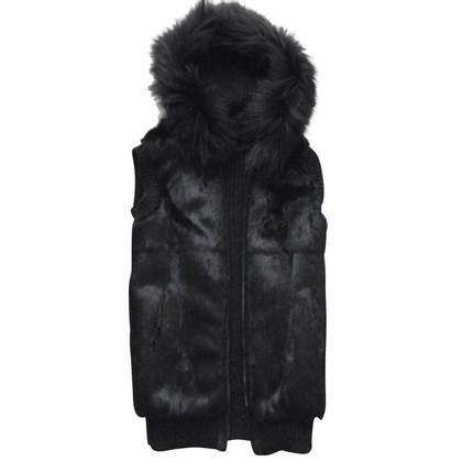 Oakwood Fur vest with hood