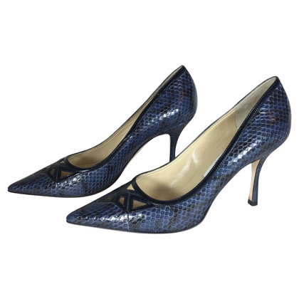 Jimmy Choo Pumps aus Schlangenleder